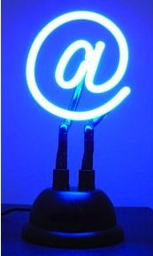 usb powered neon light @ sign