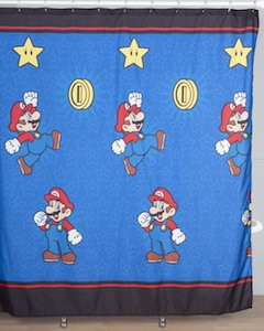 Nintendo Nintendo Super Mario Shower Curtain for sale