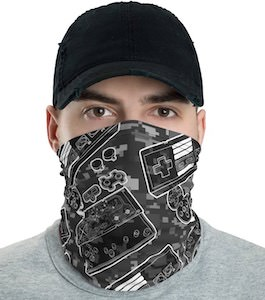 Nintendo Themed Neck Gaiter Face Mask