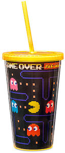 Pac-Man Trave Cup With Straw