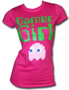 Pac Man Ghost Gamer Girl t-shirt