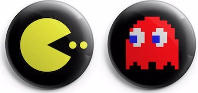 Pac Man and Ghost Buttons