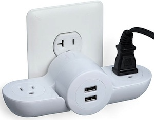 Pivot Power Mini Wall Plug / USB Combo