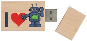 I Love Robots USB Flash Drive