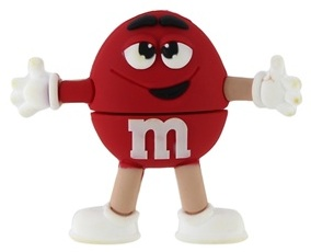 Red M&M USB Thumbdrive