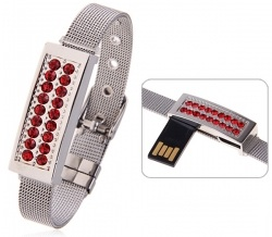 32GB Rhinestone USB Flash Drive Bracelet