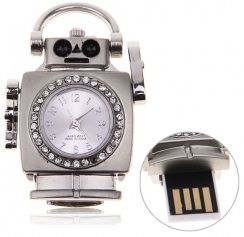 Robot Clock And Flash Drive