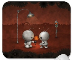 Robots In Love Mousepad