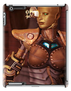 Sexy Female Robot iPad Case