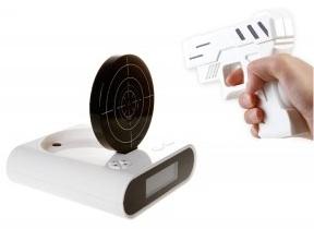 Shoot at clock alarm