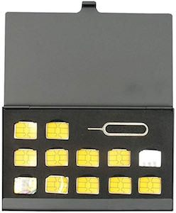 Sim Card Storage Case