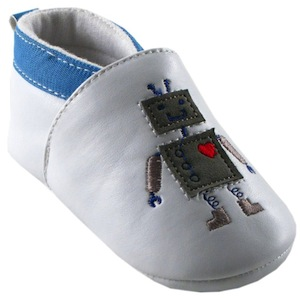 baby shoes with robots
