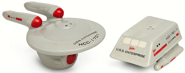Enterprise and shuttle salt and Pepper Shaker