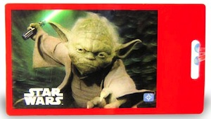 Yoda Luggage tag for Star Wars fans