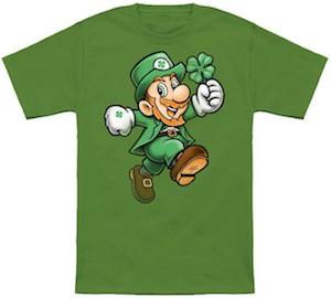 St Patrick's Day Nintendo Mario t-shirt