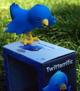 Ollie the twitter bird as action figure