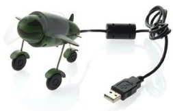USB Airforce airplane desk fan