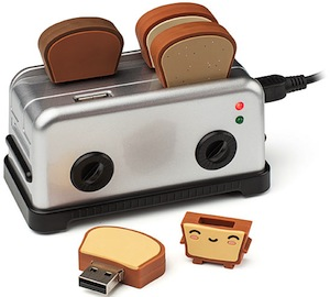 Toaster USB HUB With Bread Thumb Drives