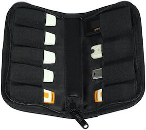 This bag can hold 9 USB memory sticks
