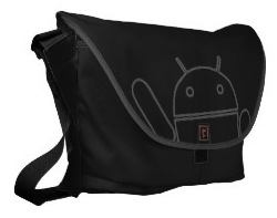 Waving Android messenger bag