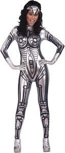 Women's Shiny Robot Costume