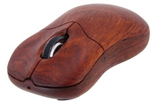 Wireless optical mouse made from wood