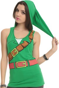 The Legend Of Zelda Link girls Hooded Costume Tank Top