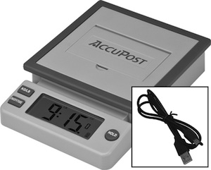 Accupost postage scale with USB connection