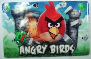 Credit card size Angry birds flash drive