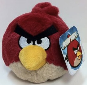 Red angry bird plush toy with sound