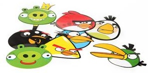 8 different Angry Birds stickers