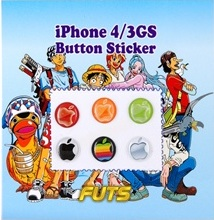 Apple logo homebutton stickers