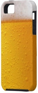 iPhone 5 case that looks like a glass of beer