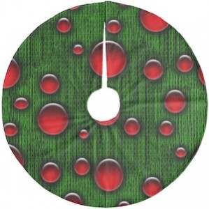 Green Binary Christmas Tree Skirt