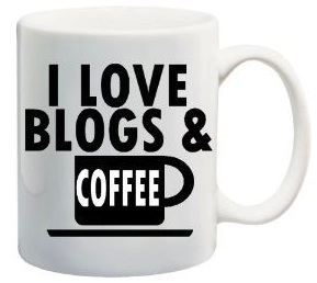 i love blogs and coffee mug