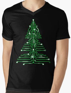 Circuit Board Christmas Tree T-Shirt