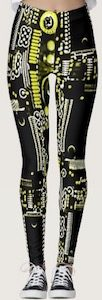 Yellow Circuit Board Leggings