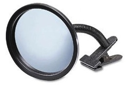 "7"" desk / security mirror to keep an eye on your back"