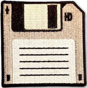 Floppy Disk Clothing Patch