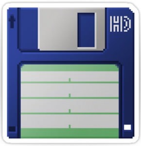 3.5 Inch Floppy Disk Sticker