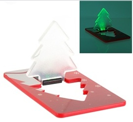 credit card style folding christmas tree light