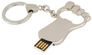 foot key chain flash drive