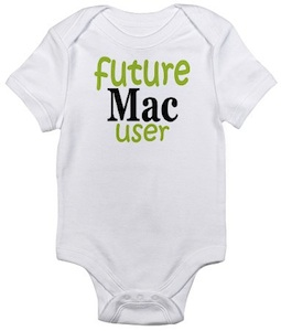 Future Mac User baby onesie