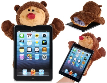 iPad Mini Case With Handwarming Plush Mouse
