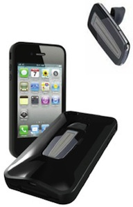 iPhone 4 case with room for a bluetooth headset