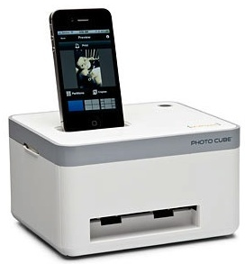 Photo cube iphone printer