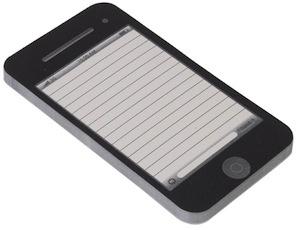 iPhone 50 sheet notepad
