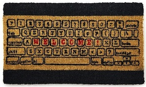 Doormat that looks like a keyboard