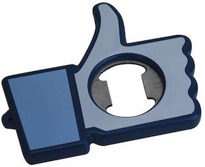 Facebook bottle opener shape like the like button