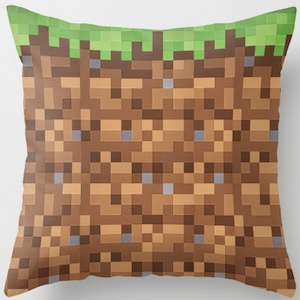 Minecraft Grass Block Pillow